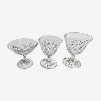 Crystal glass service Saint Louis model Adour