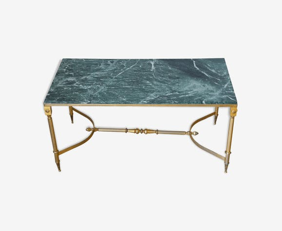 Table basse marbre vert et laiton années 60 - marbre - vert ... 6c6dee969b64