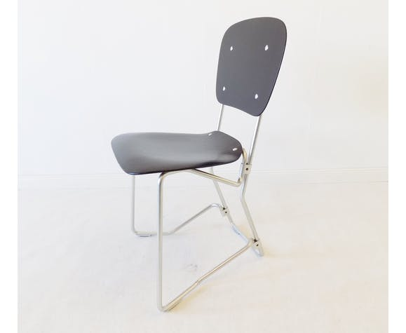 Armin Wirth Aluflex Folding Chair for Zieringer KG