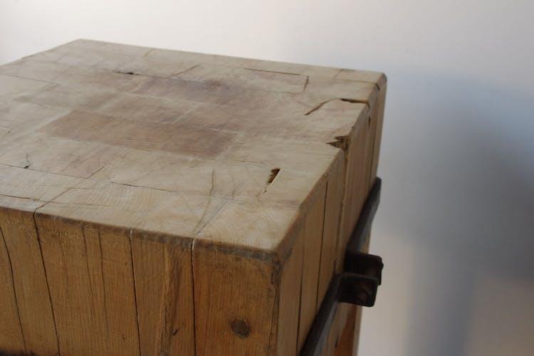 Billot de bouchers en bois
