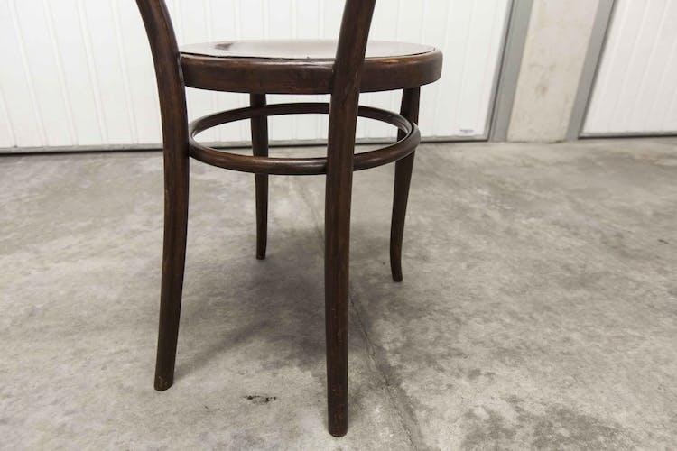 Chaise bois courbé, années 50