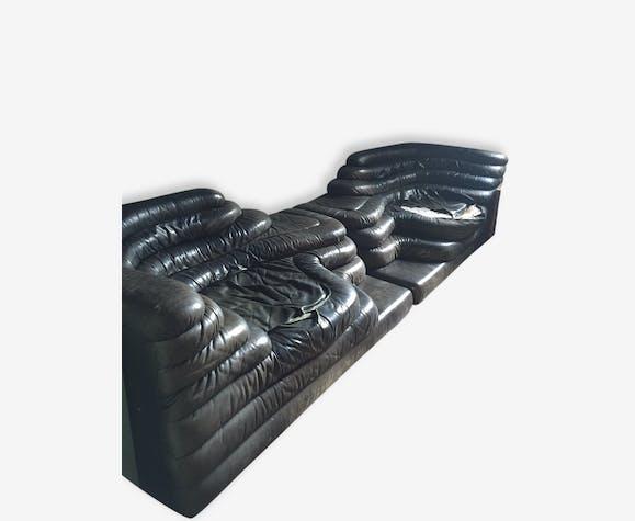 Canapés Cuir DE SEDE DS Modèle Terrazza Ubald Klug Cuir - Canapé cuir noir design