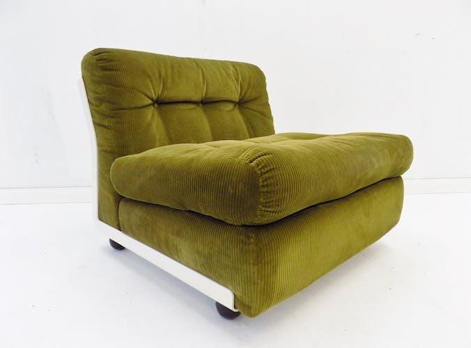 Lot de 2 fauteuils verts Amanta de Mario Bellini, édition BB Italia