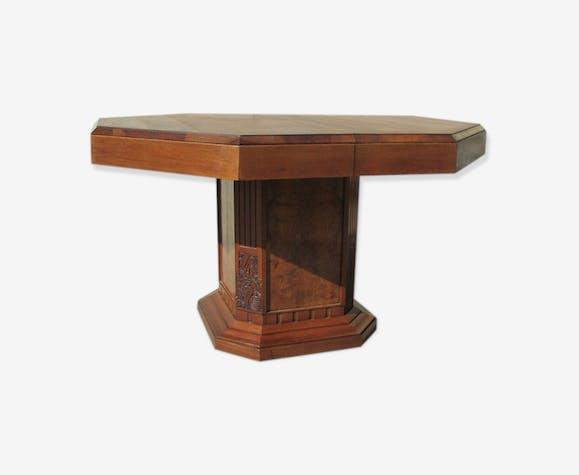 Table Octogonale Ouvrante Art Déco 14 Convives Wood Wooden Art