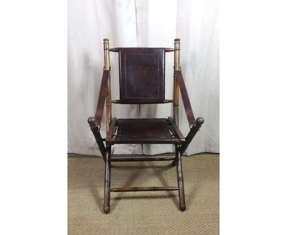 Ensemble bureau et chaise teck style colonial