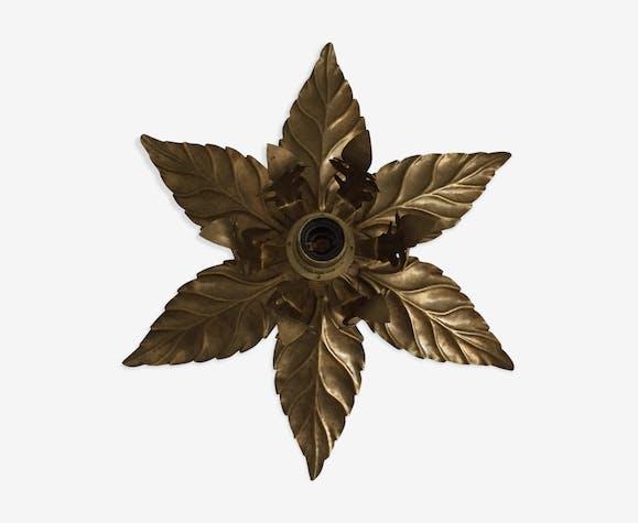Applique fleur bronze doré