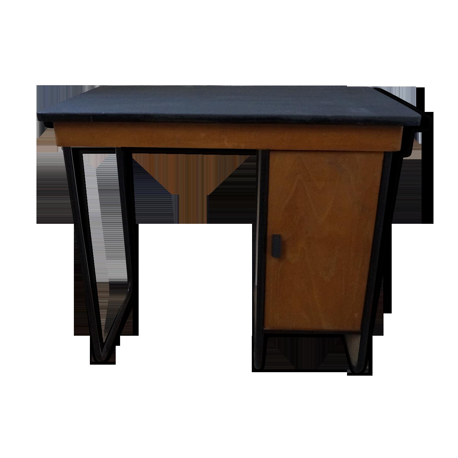 Bureau metal et bois bois matériau bois couleur
