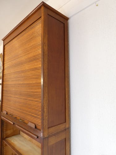 Meuble à rideaux d'administration à deux parties