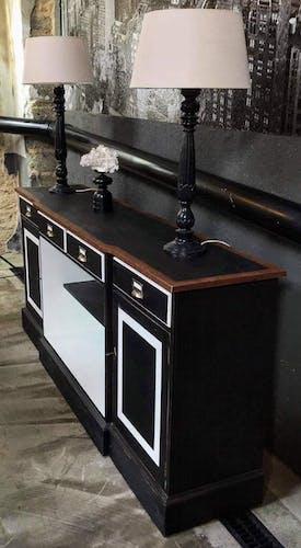 Enfilade en bois 4 tiroirs 2 portes