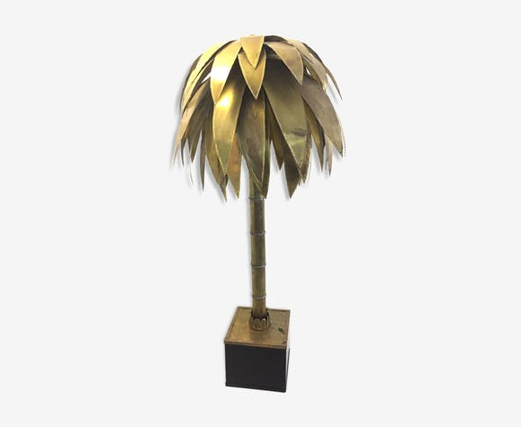 Palm Tree Floor Lamp In Brass Brass Golden Vintage