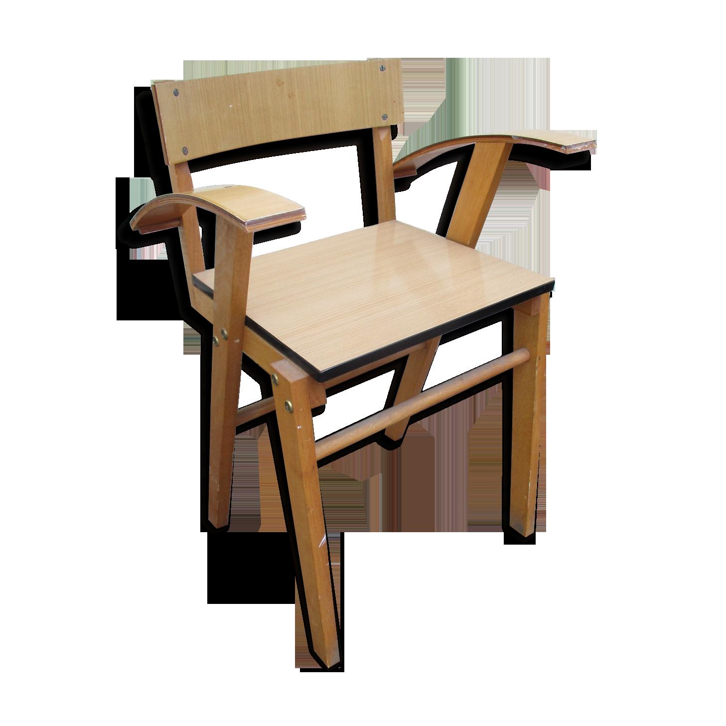 Chaise de bureau en formica design vintage formica bois