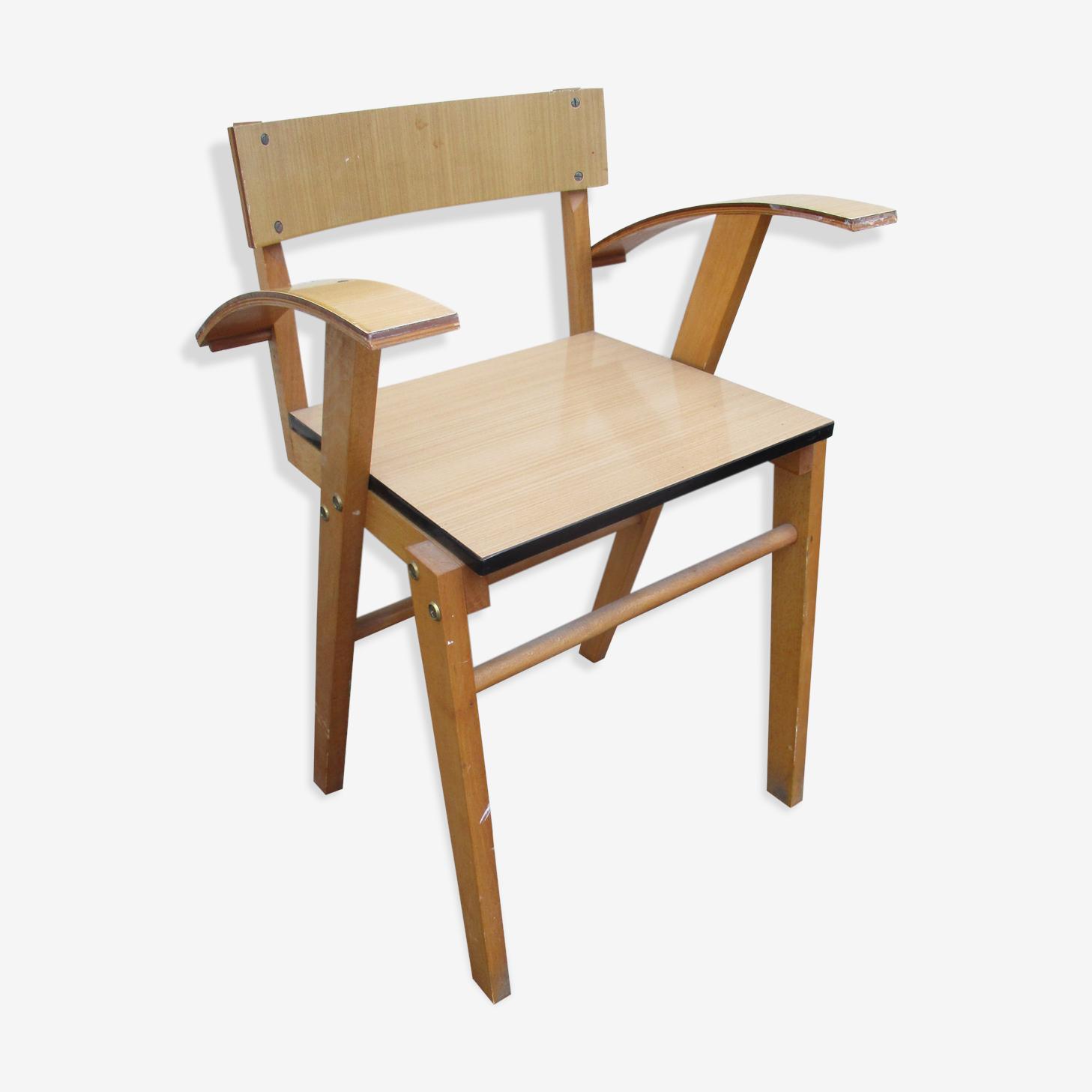 Chaise de bureau en formica design vintage