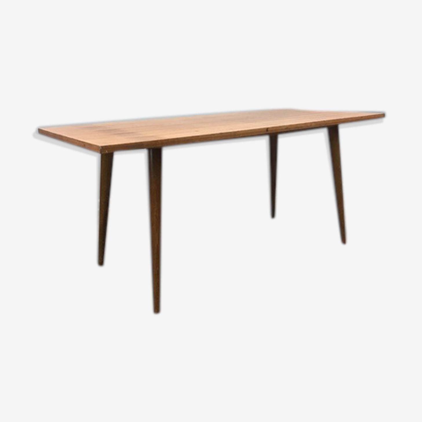 Table basse en hêtre années 70