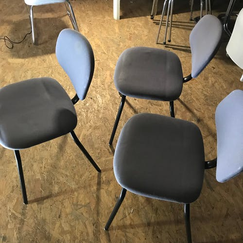 Series of 8 Steelcase Strafor chairs