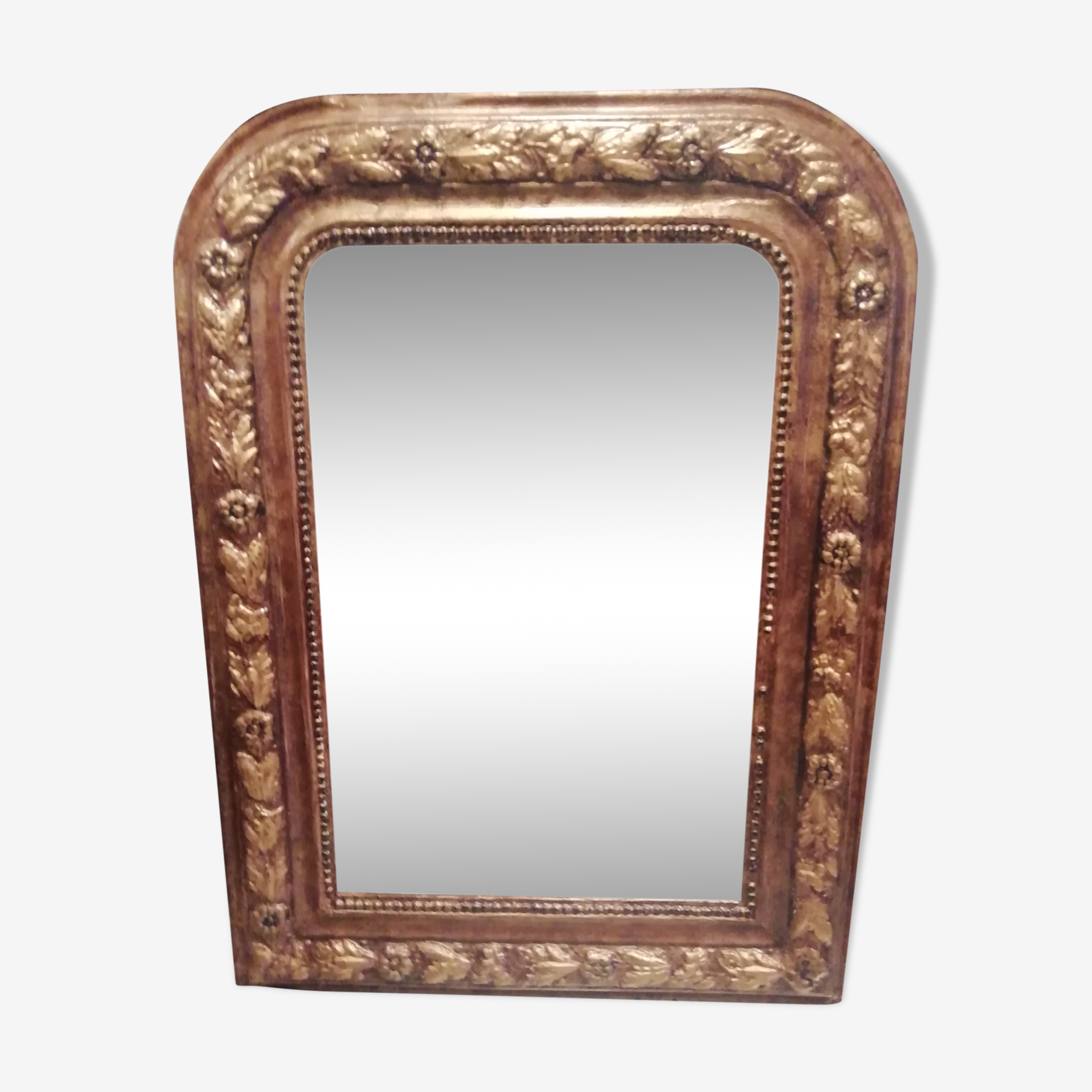 Small old gold patina mirror 44x60cm