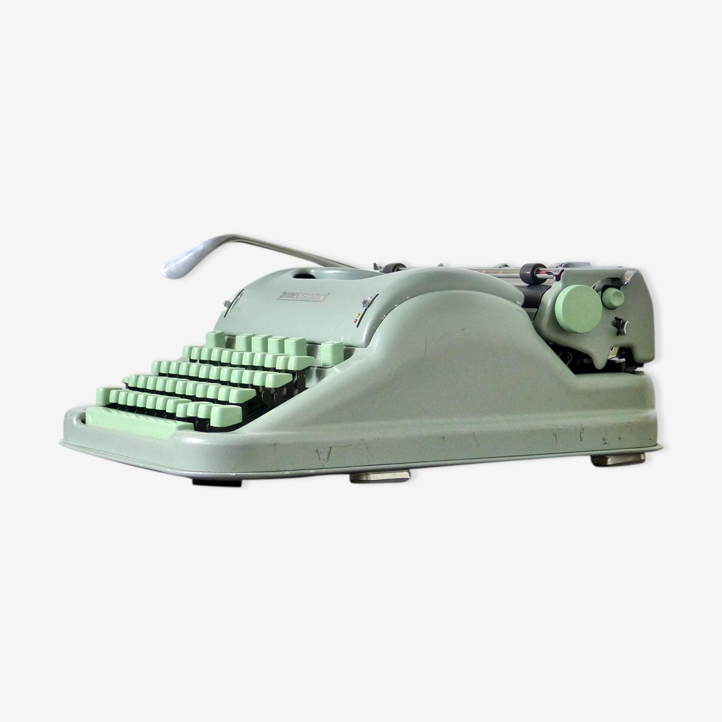 Machine à écrire Hermes 3000 vert menthe en métal