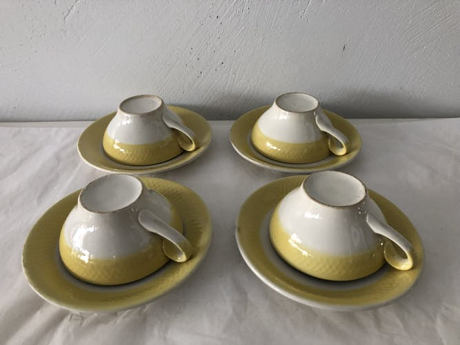 Set of 4 cups and cups to coffee vintage