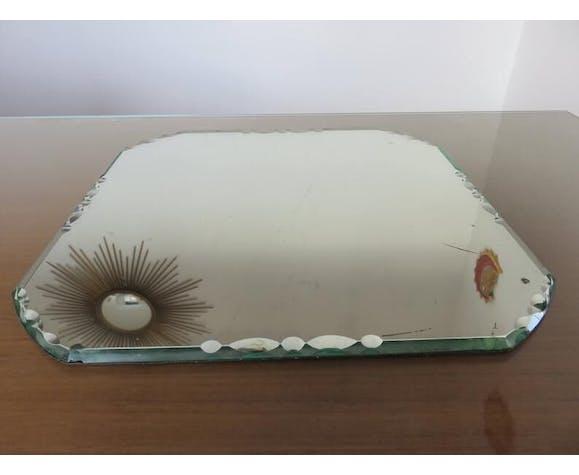 Miroir octogonal biseauté art deco années 40/50