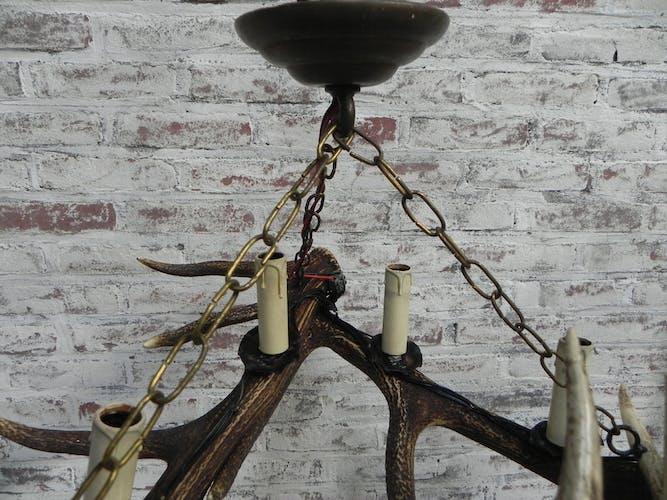 Lampe de bois avec 3 bois