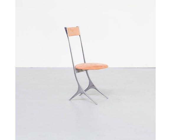 Chaise minimaliste de design italien des années 80 pour Zanotta