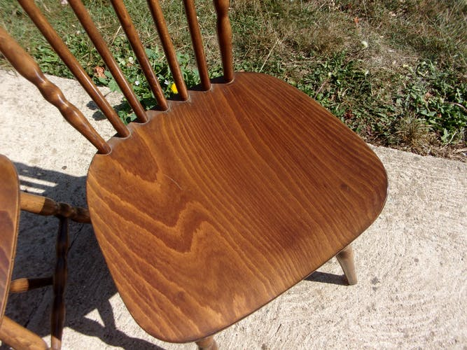Lot de 2 chaises bauman 1960 style western bistrot