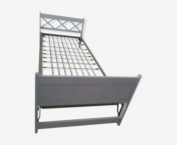 Lit gigogne gris clair - bois (Matériau) - gris - vintage - I8zOKV4