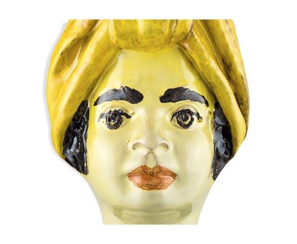 Vase tête mini jaune femme