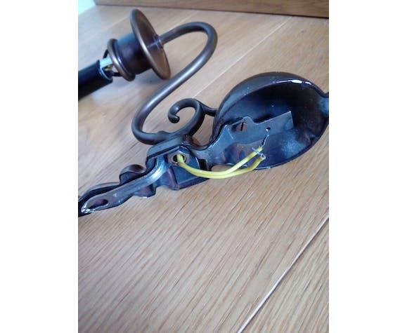 Appliques imitation chandelles couleur bronze patiné
