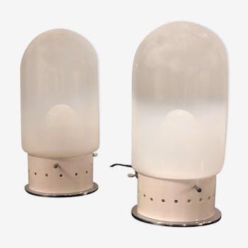 Pair of Murano 1970 lamps