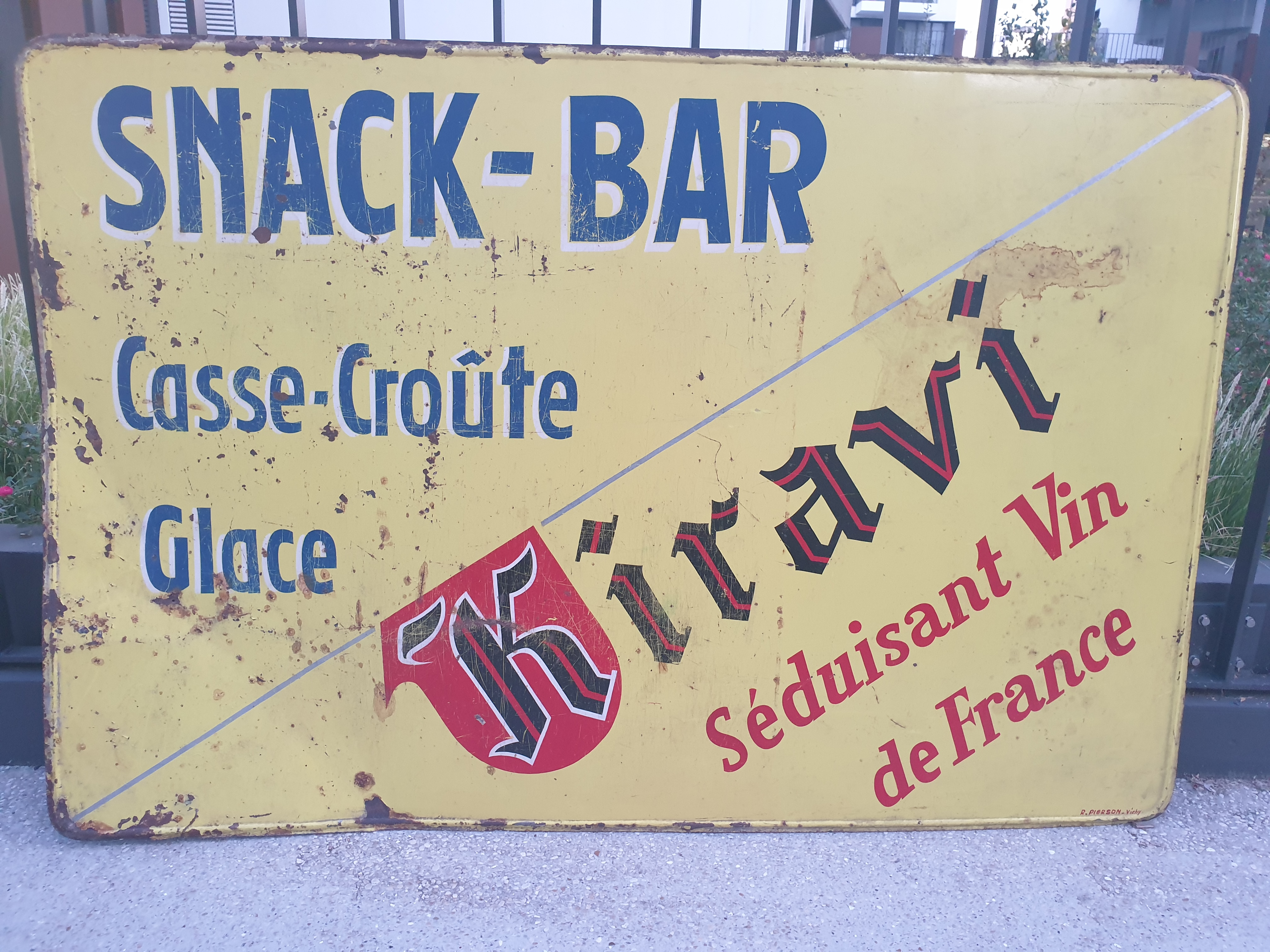 La Plaque Publicitaire Vins de France