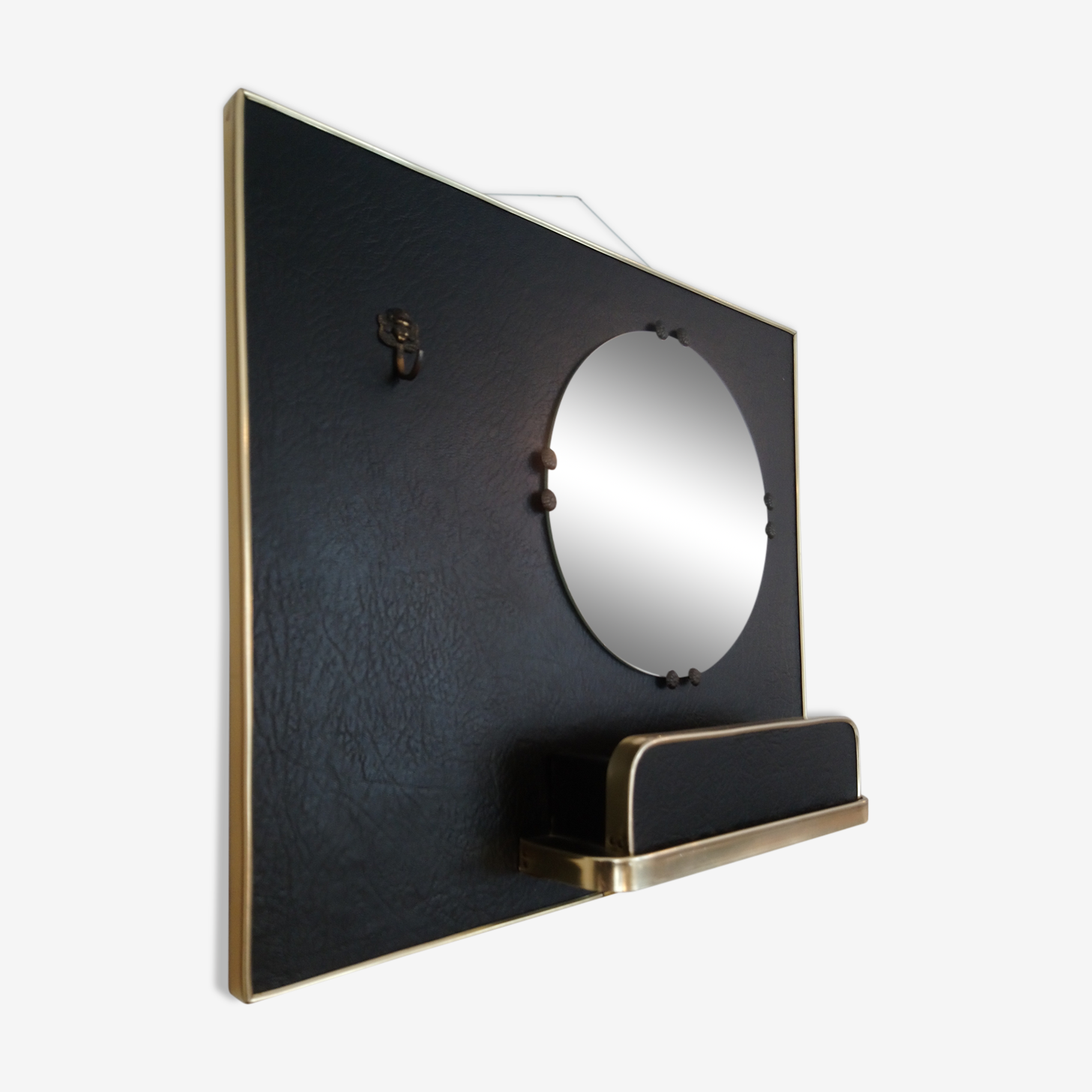 Auxiliary mirror with empty Pocket 60s 40x35cm