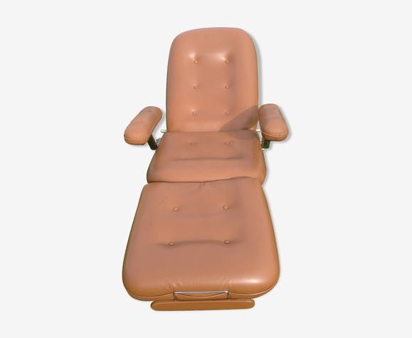 Relax Armchair Everstyle Leatherette Brown Vintage T1wp29j