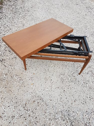 Table basse relevable Smorrebrod scandinave