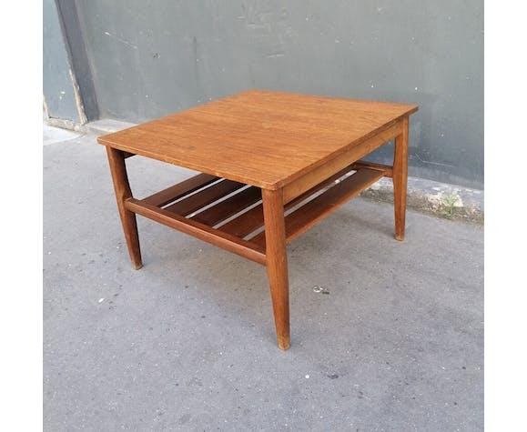 Table basse, scandinave vintage en bois, 1960