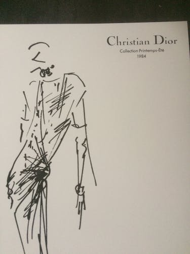 Illustration de mode de presse, collection printemps - été 1984  Christian Dior