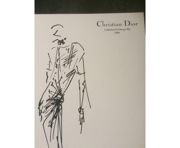 Christian dior press fashion illustration - spring collection - summer 1984