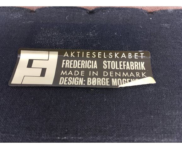 Canapé en cuir marron par Borge Mogensen pour Fredericia Stolefabrik