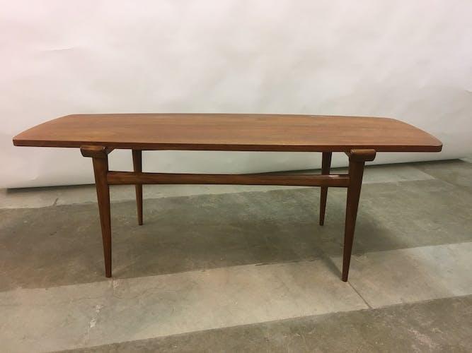 Vintage Scandinavian Teak Coffee Table, 1960s