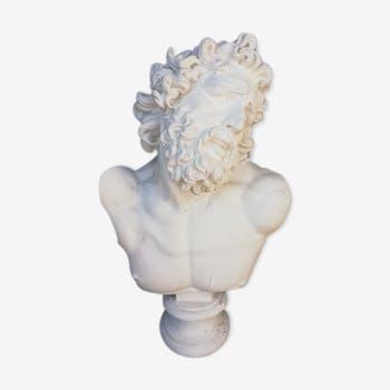 Buste en plâtre Posséidon