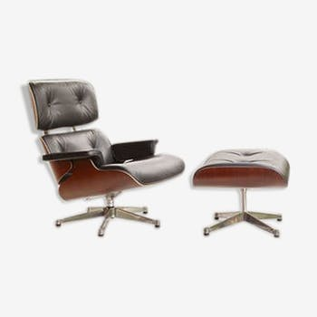 Lounge chair and ottoman by Charles & Ray Eames 1956
