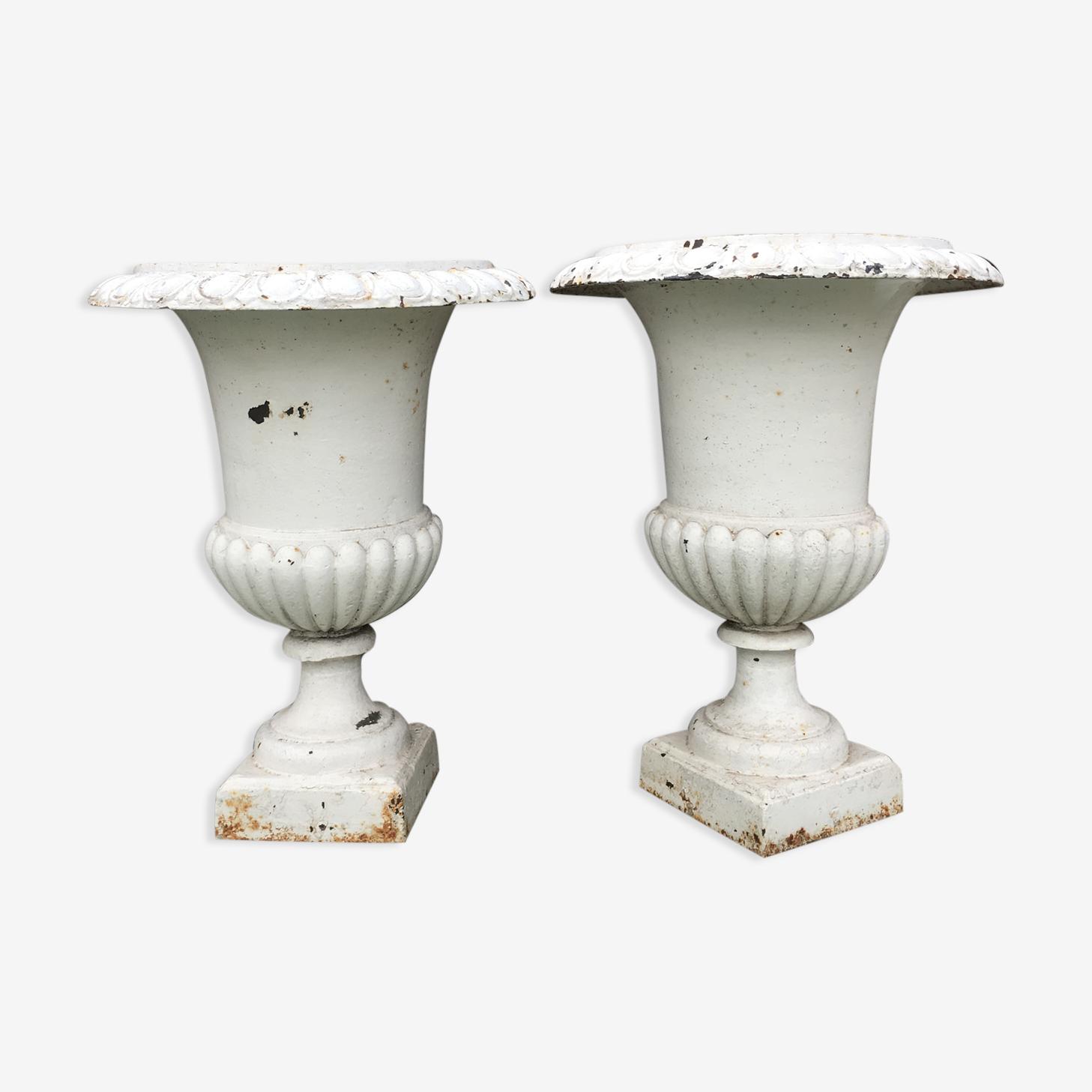 Pair of Medici cast-iron