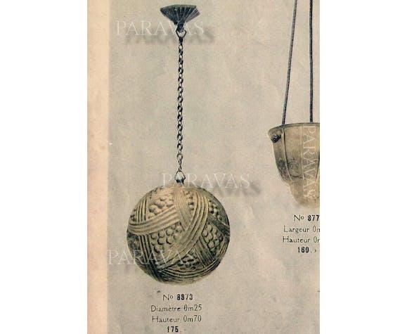 Suspension art déco par  Hettier et Vincent