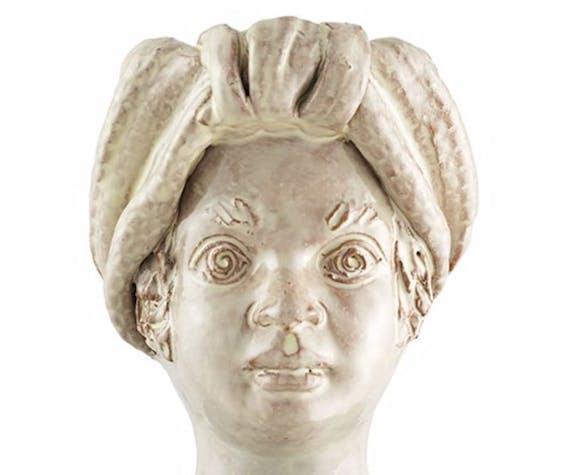 Vase tête mini blanche femme
