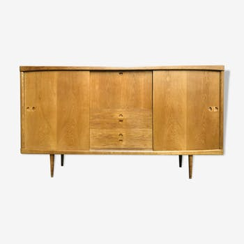 Danish mid-century oak highboard by H.W. Klein for Bramin, 1960s