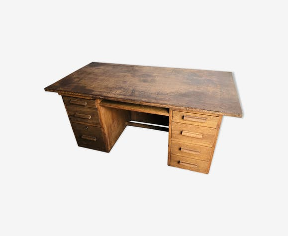 Oak box desk