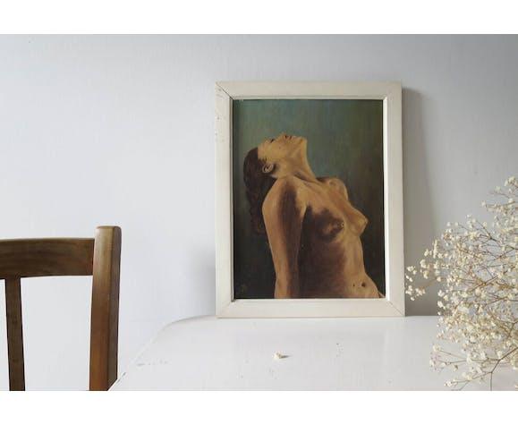 Peinture femme aux seins nus