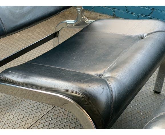 Paire de fauteuils Whist d'Olivier Mourgue 2nde édition Airborne 1964