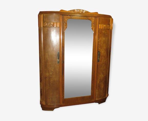 armoire art d co 1930 bois mat riau bois couleur art d co 141831. Black Bedroom Furniture Sets. Home Design Ideas