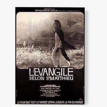 Affiche cinéma originale 1964.Evangile selon St Mathieu.60x80 cm.Pier Paolo Pasolini