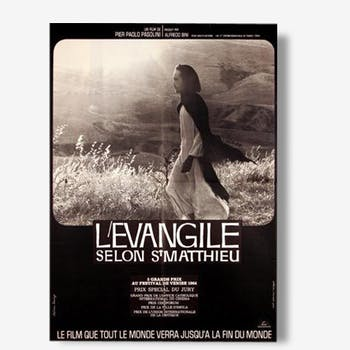 Poster movie original 1964.Evangile according to St Mathieu.60x80 cm. Pier Paolo Pasolini